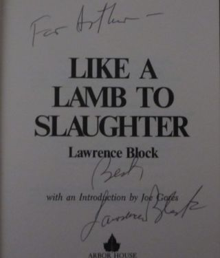Like a Lamb to Slaughter (Inscribed)