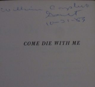 Come Die with Me (Signed)