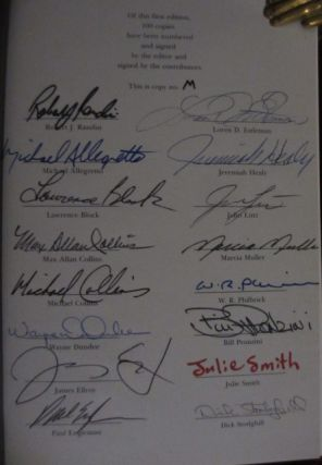 Justice for Hire. The Fourth Private Eye Writers of America Anthology (Signed By All contributors)