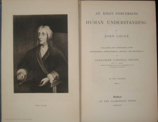 AN ESSAY CONCERNING HUMAN UNDERSTANDING.Two Volumes