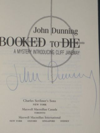 BOOKED TO DIE a Mystery Introducing Cliff Janeway