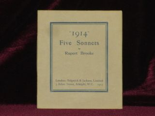 1914 FIVE SONNETS. Rupert Brooke