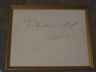 THE BEATLES (Signed photograph). The. Lennon Beatles, John, Paul McCartney, George Harrison, Ringo Starr.