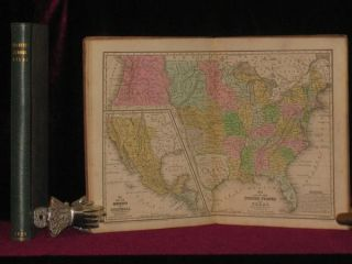 MITCHELL'S SCHOOL ATLAS (with Texas as a Republic)