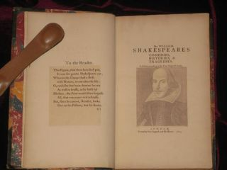 Mr. William Shakespeares Comedies, Histories, and Tragedies [Shakespeare As Put Forth in 1623. A Reprint of]