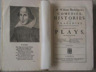 Mr. William Shakespeare's Comedies, Histories, and Tragedies. Facsimile Edition (Plays, Works)....