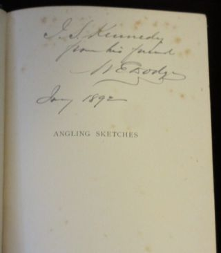 Angling Sketches (Inscribed By Industrialist William E. Dodge to Another Industrial giant)