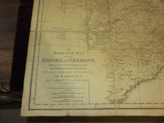 Germany. A Reduced Map of the Empire of Germany, Holland the Netherlands Switzerland the Grisons, Italy, Sicily Corsica and Sardinia. Captain Chauchard.