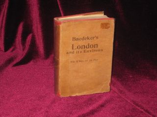London and Its Environs. Handbook for Travelers. Karl Baedeker