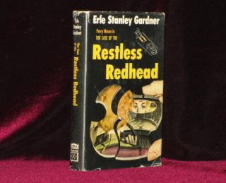 The Case of the Restless Redhead. Erle Stanley Gardner, SIGNED.