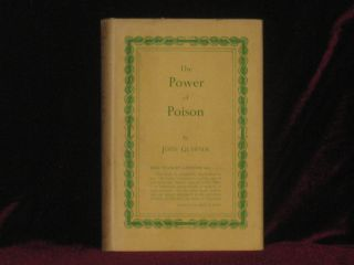 The Power of Poison. John. Book GLAISTER, Erle Stanely Gardner