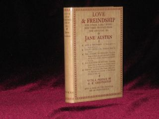 Love & Freindship (sic) and Other Early Works Now First Published from the Original MS. By Jane Austen