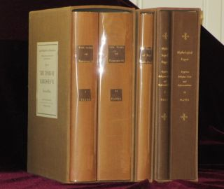 Egyptian Religious Texts and Representations - Volumes 1, 2 and 3 (in 5 volumes). N. Rambova.