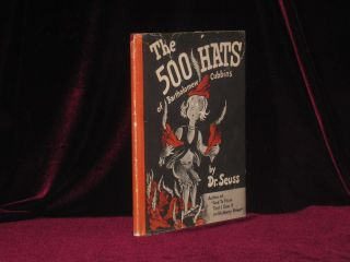 The 500 Hats of Bartholomew Cubbins (Signed). Seuss Dr, SIGNED.