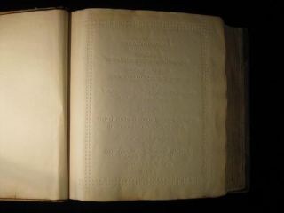 Bible in English, for the Blind, Printed in the New York Point Alphabet [Braille]. In English...
