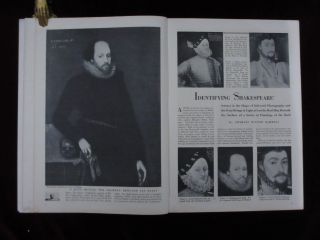 The Ashbourne Portrait of Shakespeare; Long Galley Proofs, for Connoisseur Magazine, with 2 Page ALS from H. M. Hake