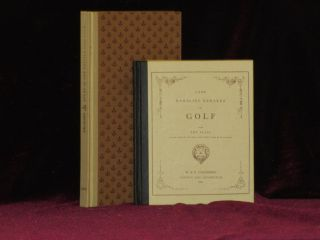 Rules of the Thistle Golf Club & a Few Rambling Remarks on Golf. John Cundell, Robert Chambers.