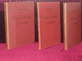 Excavations At Kish, Expedition to Mesopotamia. Three Volumes. S. And Watelin Langdon, L. Ch.