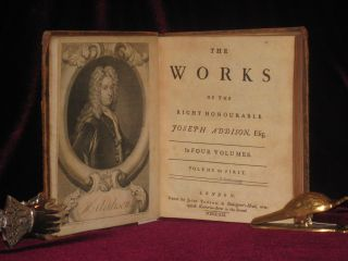 The Works of the Right Honourable Joseph Addison (In 4 volumes)