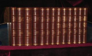 Works, All Early Editions, 17 Volumes, 3/4 Leather. Jules Verne