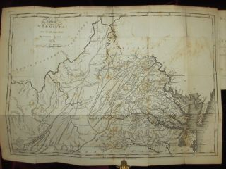 Notes on the State of Virginia; with Map. Thomas Jefferson
