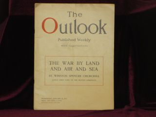 THE WAR BY LAND AND AIR AND SEA In The Outlook, Published Weekly, Wednesday, January 31, 1917, Pp.196-197. Winston Spencer Churchill.